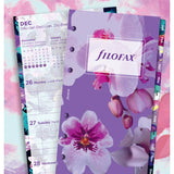 Filofax - Paper Refill - Floral Illustrated Diary Refill Pack - Personal - 5 Languages 2018