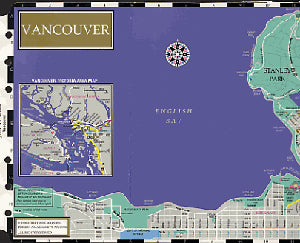 Filofax Papers Vancouver Map  Personal Size