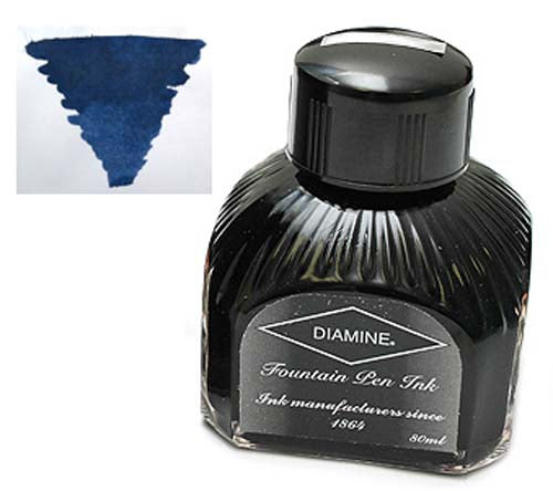 Diamine Refills Denim  Bottled Ink 80mL