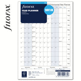 Filofax - Paper Refill - A5 - Full Year Horizontal Planner - English 2018