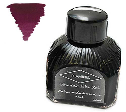 Diamine Refills Merlot  Bottled Ink 80mL
