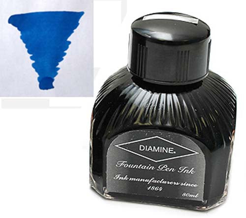 Diamine Refills Kensington Blue  Bottled Ink 80mL
