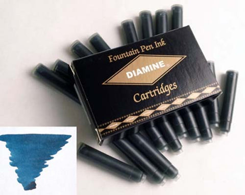 Diamine Refills Blue / Black Pack of 18  Fountain Pen Cartridge