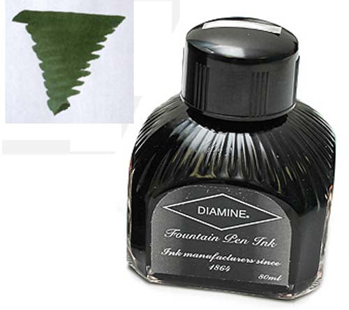 Diamine Refills Evergreen  Bottled Ink 80mL