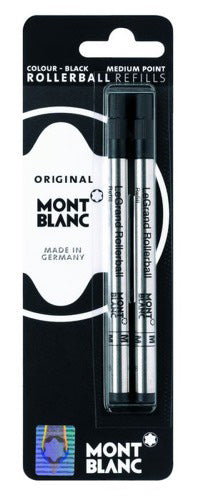 Montblanc Refills Blue 2 Pack - Medium Point Rollerball Pen