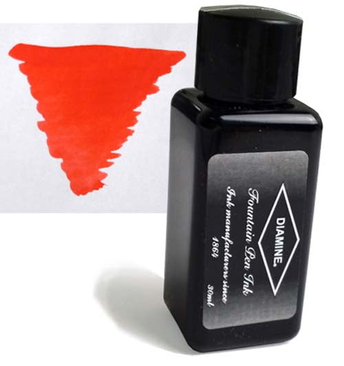 Diamine Refills Poppy Red 30mL  Bottled Ink