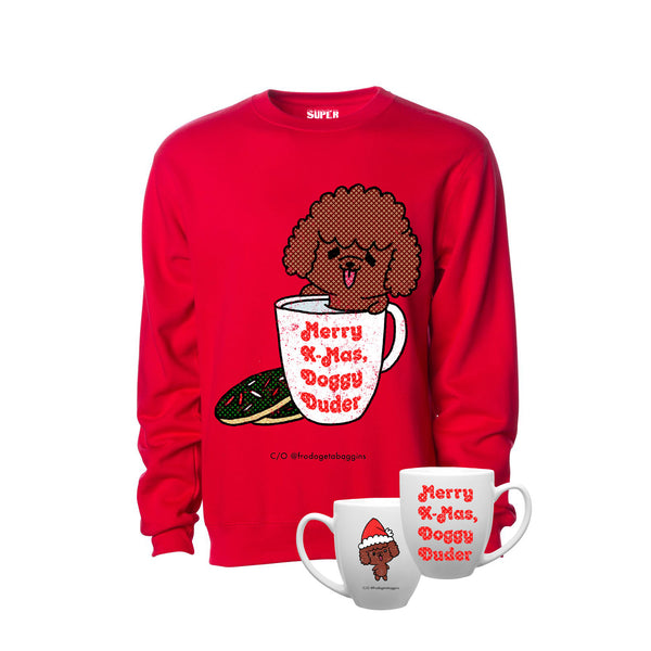 Doggy Duder Christmas Crewneck (Red)