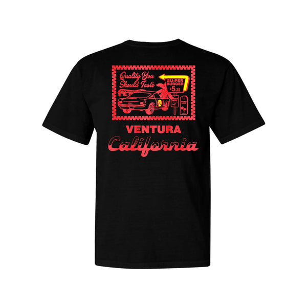 Super Burger Tee - Black