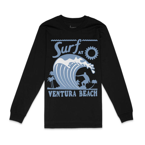 Ventura Surf Black Long Sleeve Shirt