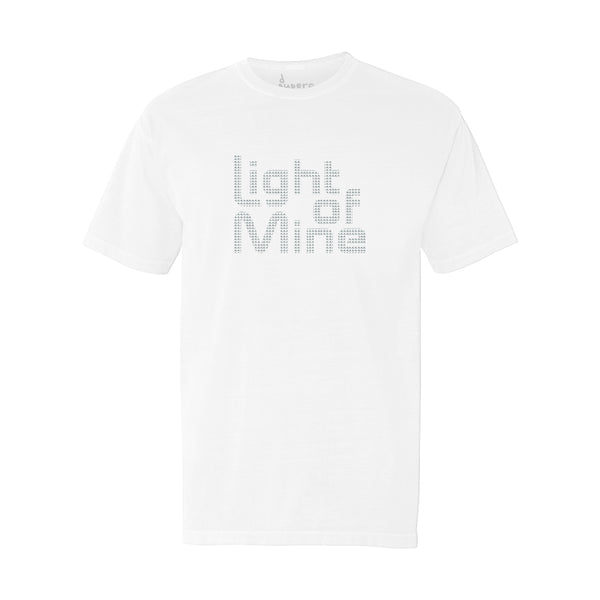Light of Mine Rhinestone Tee (White)