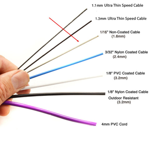 "1/16"" Bare Wire Speed Cable - Non-Coated"