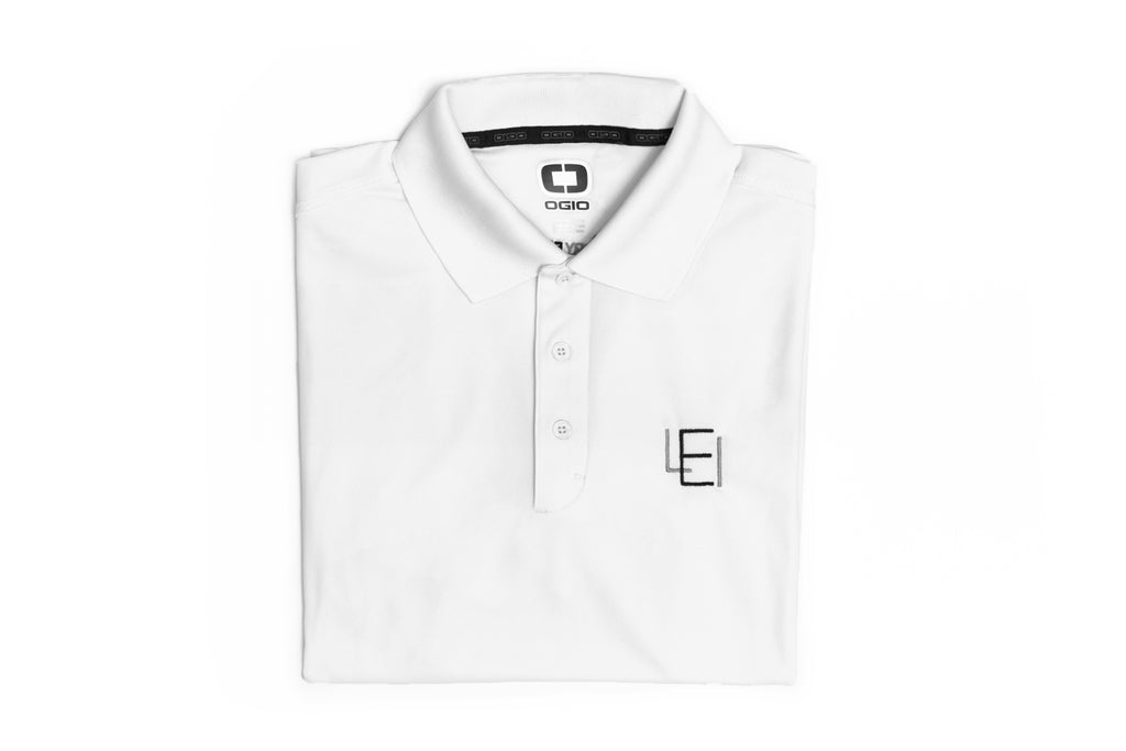 Men's White Acronym Polo