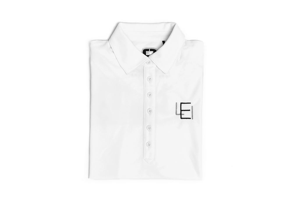 Women's White Acronym Polo