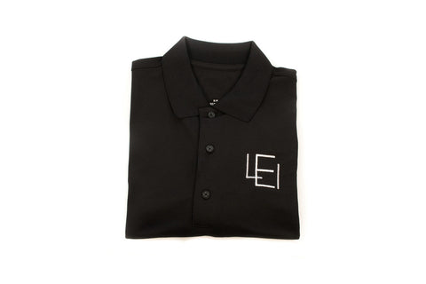 Women's Black Acronym Polo