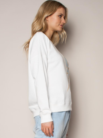 The Others Slouchy Sweat with White/ Caviar Bolt