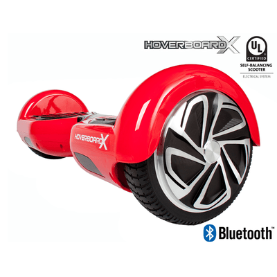 HoverboardX HBX-2 Bluetooth Hoverboard - UL 2272 - Red