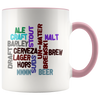 Beer Words Word Art Coffee Mug