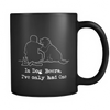 In Dog Beers Black Coffee Mug