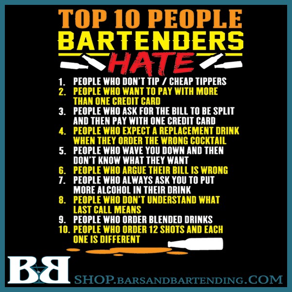 10 People Bartenders Hate Black Mug