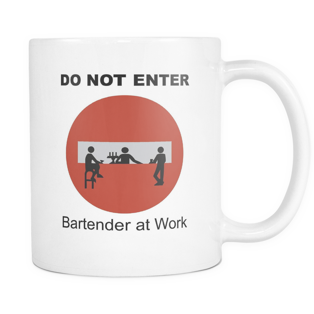 Do Not Enter White Coffee Mug
