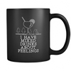 Mixed Drinks About Feelings Black Coffee Mug