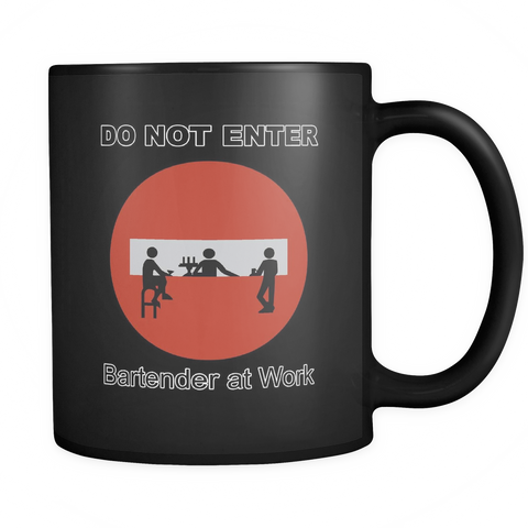 Do Not Enter Black Coffee Mug