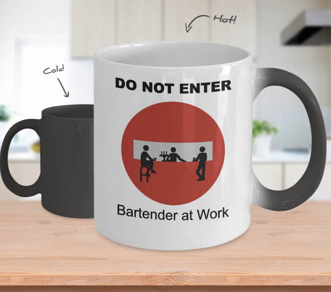 Do Not Enter Color Changing Mug