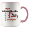 Bartender AKA Word Art Coffee Mug