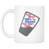 Miss 100 Percent Shots White Coffee Mug