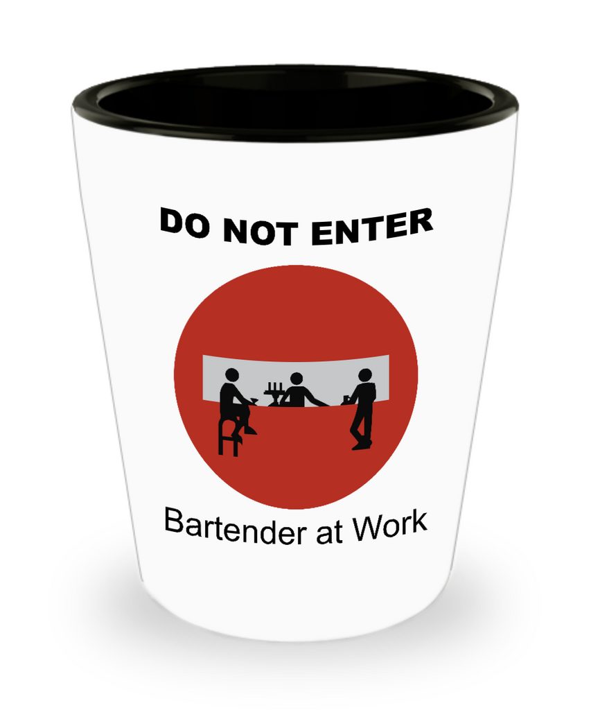 1.5oz (30ml) Shot Glass - Do Not Enter