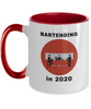 Bartending in 2020 - Do Not Enter - 2 Tone Mug - Red
