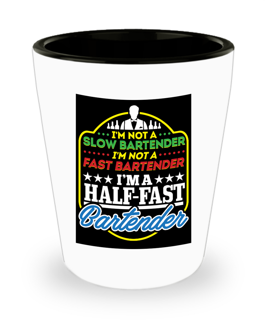 1.5oz (30ml) Shot Glass - Half Fast Bartender
