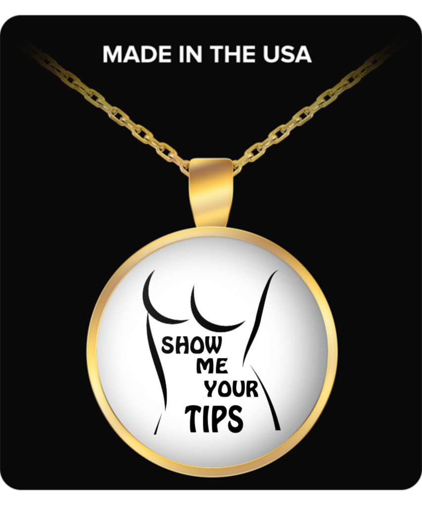 Show Me Your Tips Round Gold Necklace