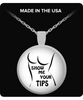 Show Me Your Tips Round Necklace