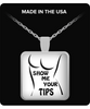 Show Me Your Tips Square Silver Necklace