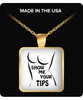 Show Me Your Tips Square Gold Necklace
