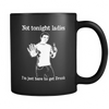 Not Tonight Ladies Black Mug