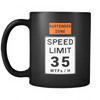 Bartender Zone Speed Limit Black Coffee Mug