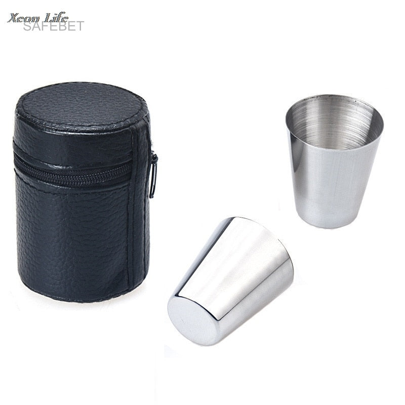 6 Pieces Metal Shot Glass Set