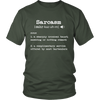 Sarcasm Definition a Complimentary Service Tshirt