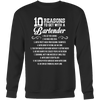 10 Reasons to Get with a Bartender Sweatshirt