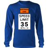Bartender Zone Speed Limit Long Sleeve Shirt