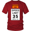 Bartender Zone Speed Limit Tshirt