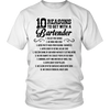 10 Reasons to Get with a Bartender Tshirt