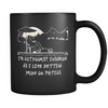 I'm Outdoorsy Black Coffee Mug