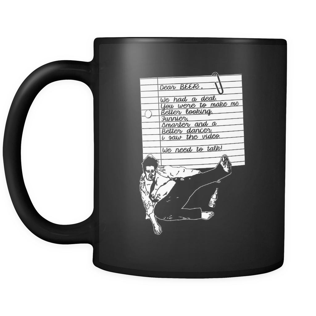 Dear Beer Black Coffee Mug