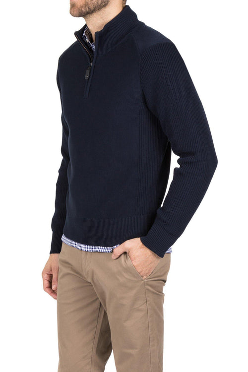 Blazer Navy Joseph 1/2 Zip - Harry's for Menswear