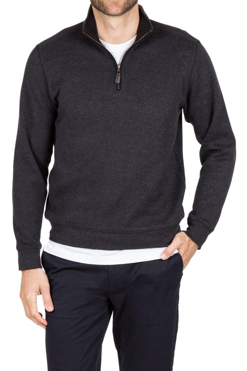 Blazer Charcoal Heather 1/2 Zip - Harry's for Menswear