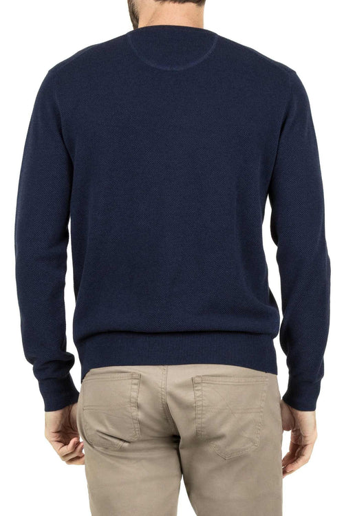 Blazer Hunter Fashion Crew Knit Navy - Harry's for Menswear