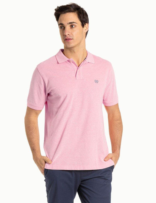 Blazer Pink  Oxford Pique Polo - Harry's for Menswear